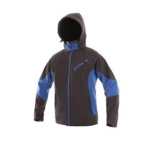 Pánská softshell bunda SACRAMENTO, šedo-modrá