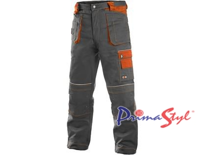 Pánské kalhoty ORION TEODOR, šedo-oranžové