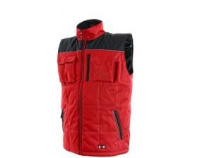 Pánská zimní vesta SEATLE, červeno-černá