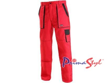 Pánské kalhoty CXS LUX JOSEF, červeno-černé
