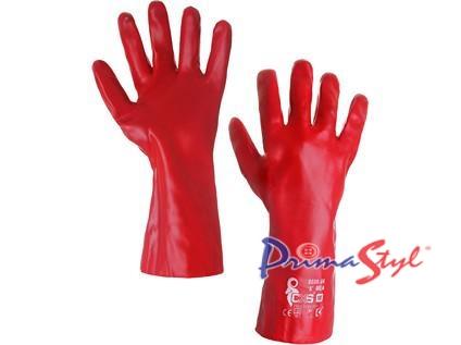 Povrstvené rukavice SELA, červené