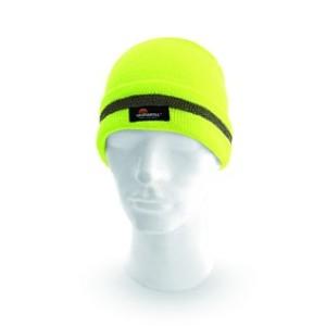 Reflexní čepice KEADY, žlutá